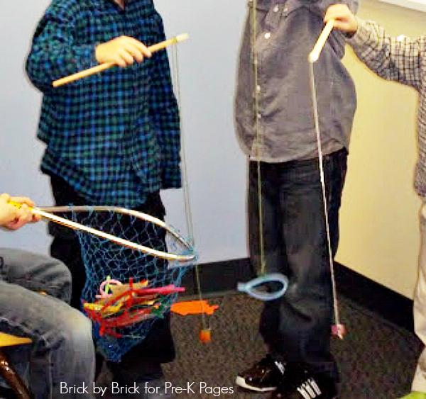 preschool fishing poles and net