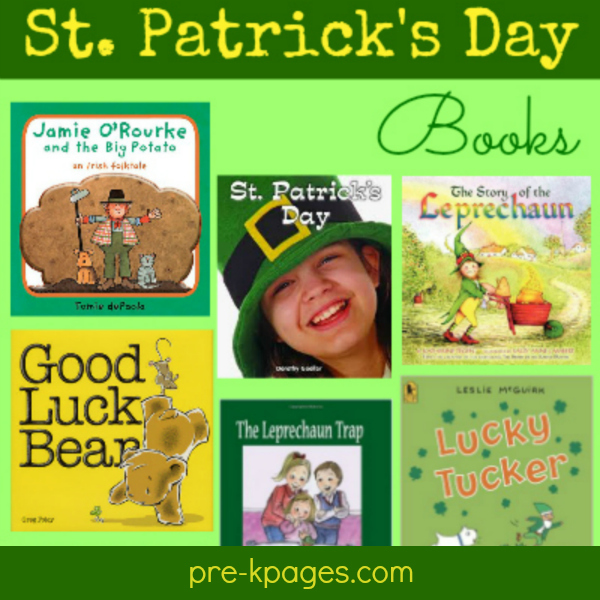 st patricks day book list pre-k