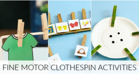Fine Motor Clothespin Activities for Preschool