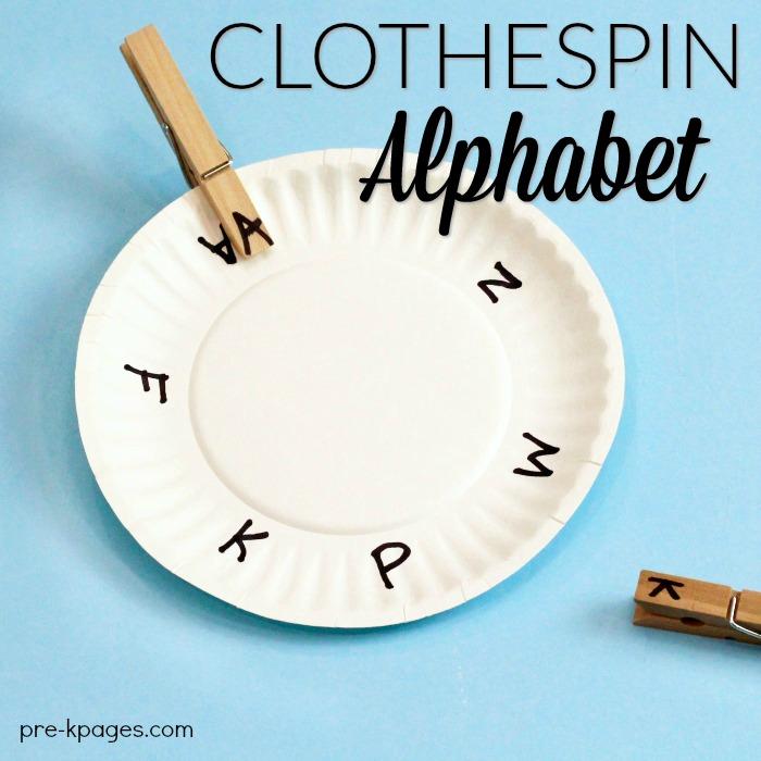 Fine Motor Clothespin Activities For Preschool on Pre K Letter Art