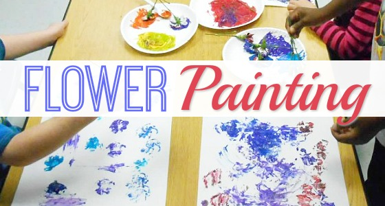 Painting with Flowers for Spring