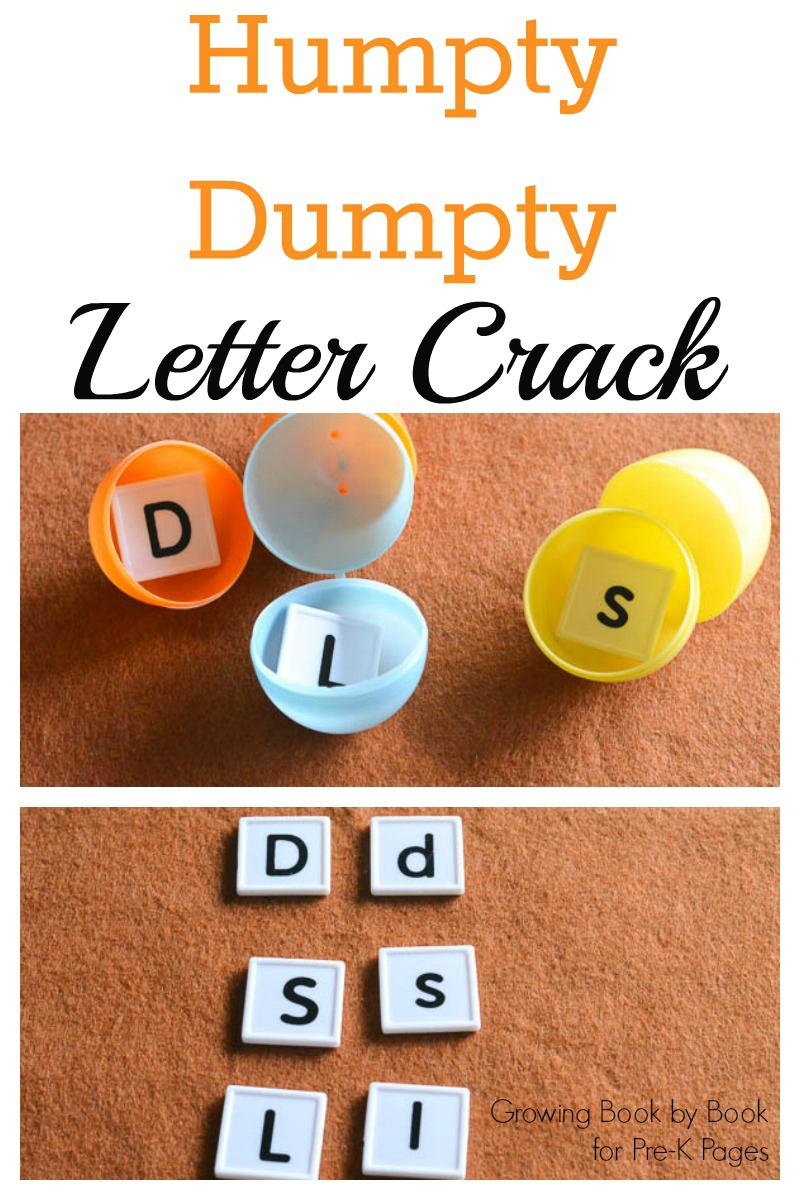 Humpty Dumpty Letter Crack - Pre-K Pages