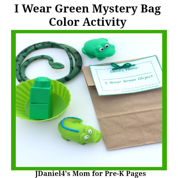 one color mystery bags green pre-k