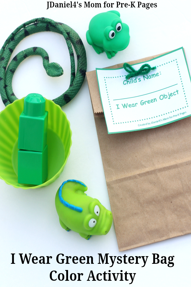 Green Mystery Bags - Pre-K Pages