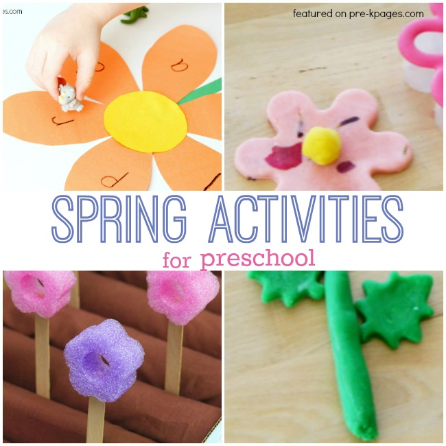 Spring writing activities for preschoolers