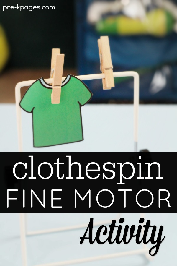 Hanging Clothes with Clothespins for Fine Motor Development in Preschool