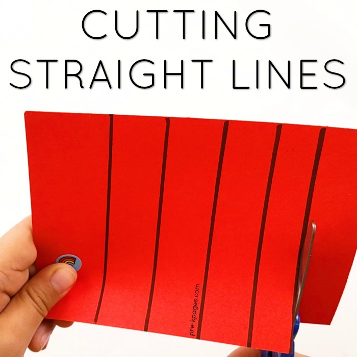 How to Teach Kids to Cut Straight Lines with Scissors