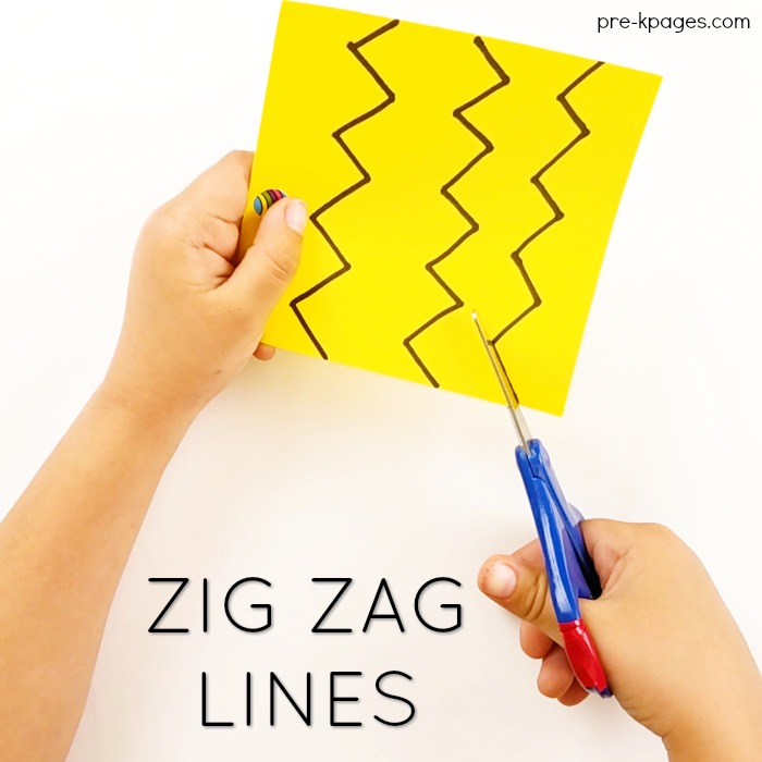How to Teach Kids to Cut with Scissors on Zigzag lines