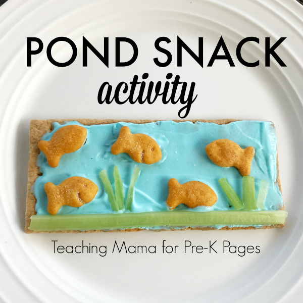 Pond Snack Activity pre-K