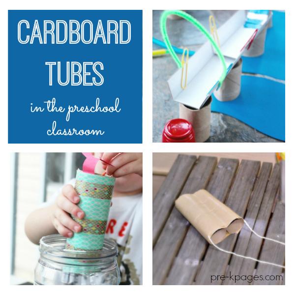 cardboard tubes in classroom