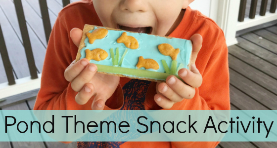 Pond Theme Snack Activity