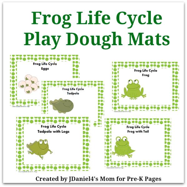 Frog Life Cycle Play Dough Mats