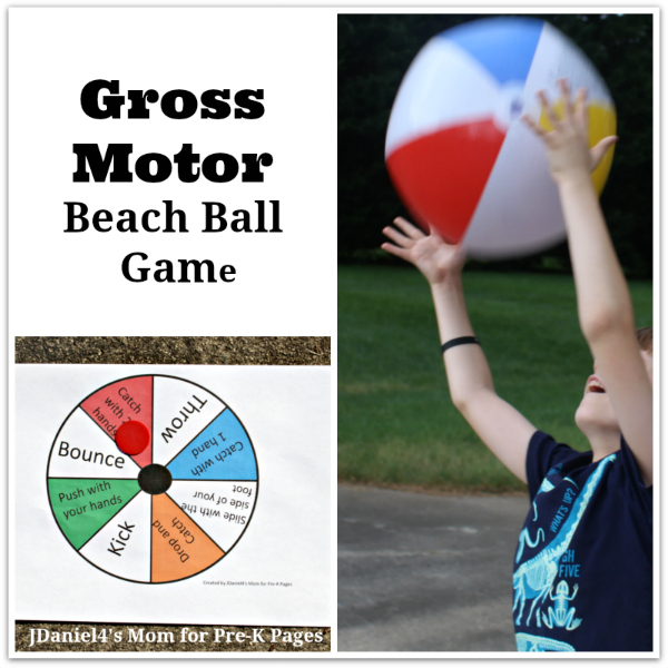 Gross Motor Beach Ball Game for preschool