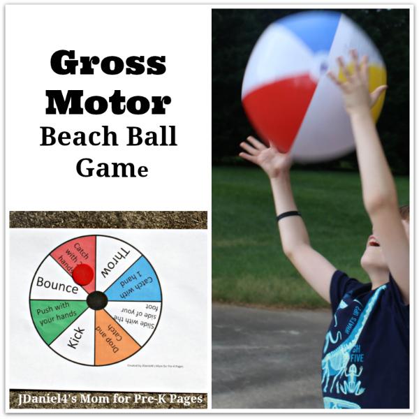 Gross Motor Beach Ball Game for preschool