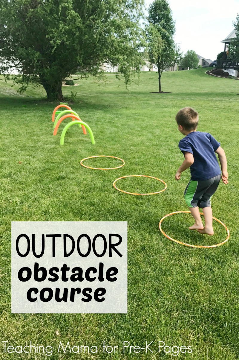 outdoor obstacle course pre k pages