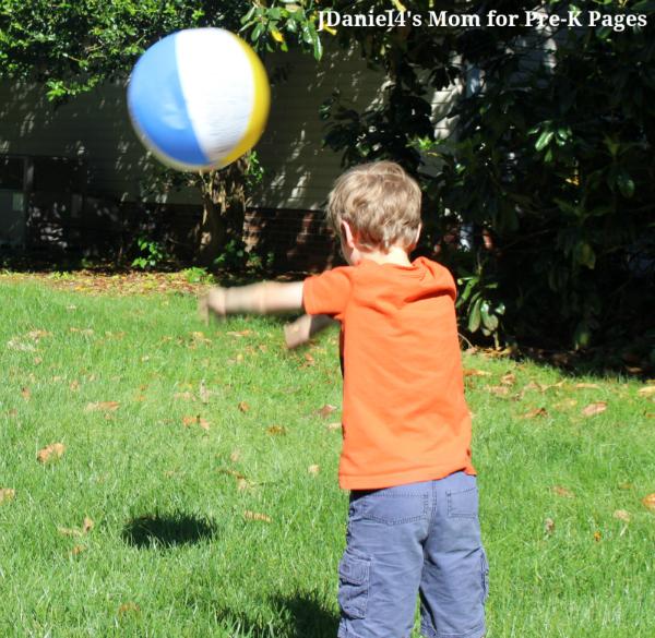 beach ball gross motor bounce throw