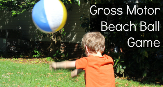 Gross Motor Beach Ball Game