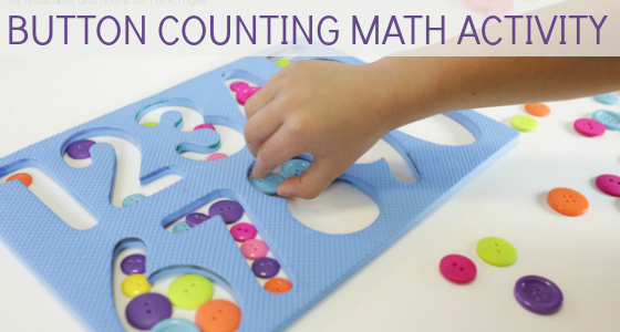 Button Counting Math Activity