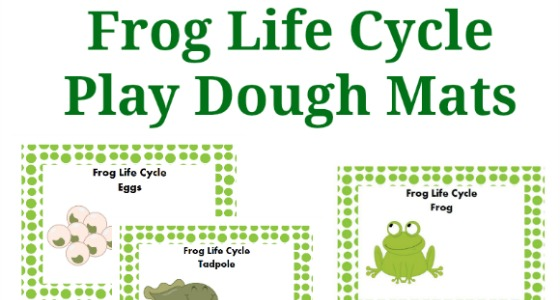 pond frog play dough activity