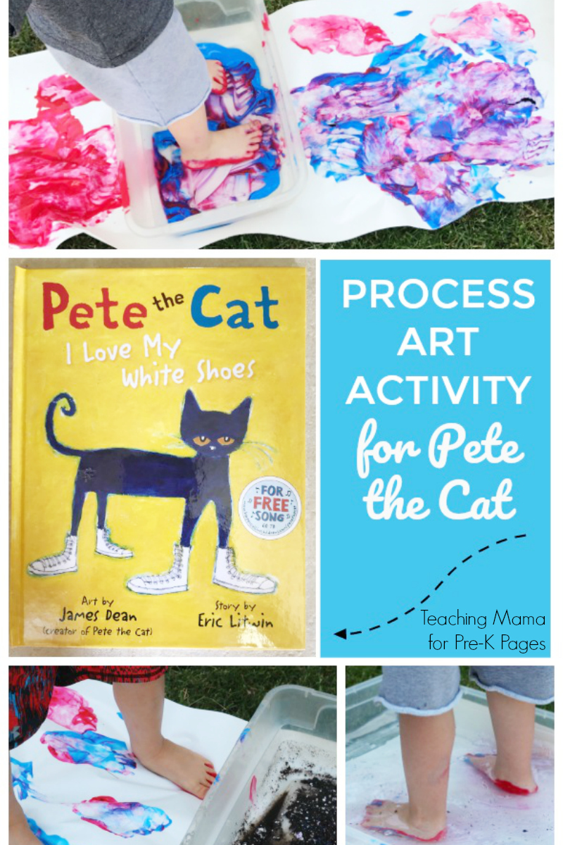 Process Art Activity for Pete the Cat