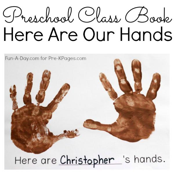 DIY class book for preschool