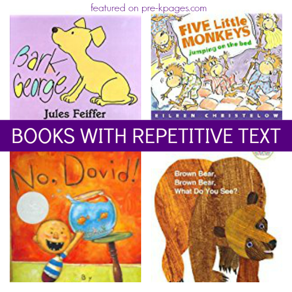 books repetitive text pre-k