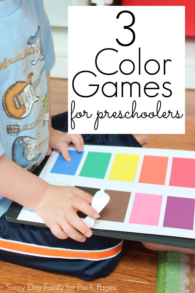 3 Fun Colors Games for Preschoolers - Pre-K Pages