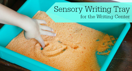 Sensory Writing Tray for the Writing Center