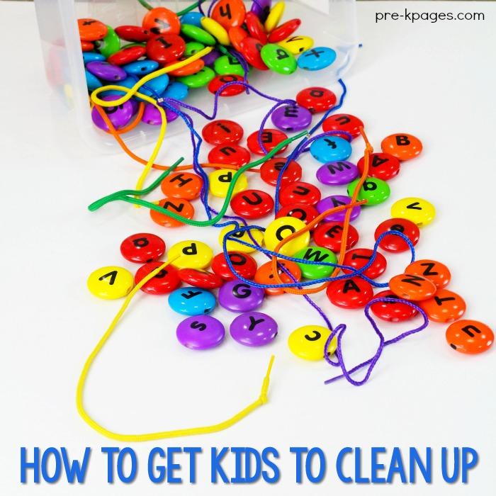 Clean Up Time in Preschool
