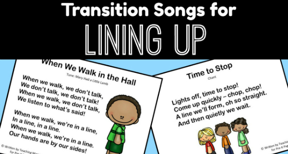 Transition Songs for Lining Up in Pre-K