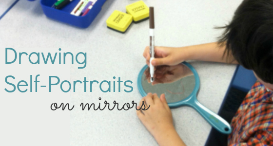 Drawing Self-Portraits on Mirrors