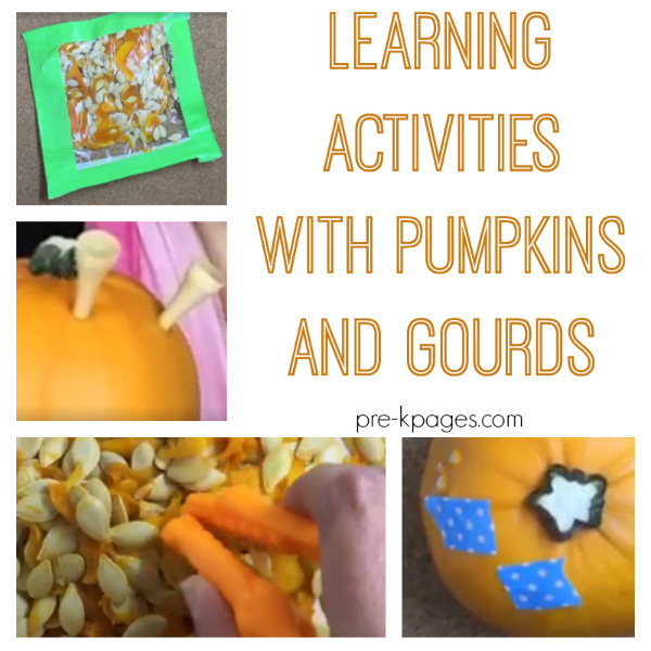 fall activities pumpkins and gourds pre-k