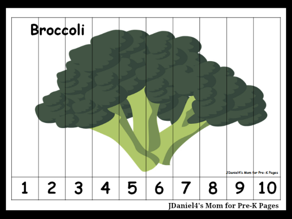 broccoli number order puzzle