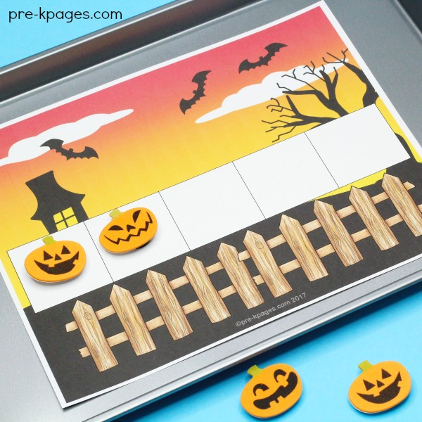 5 Little Pumpkins Printable for Halloween