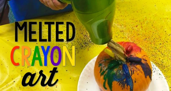 Melted Crayon Pumpkin Decorating