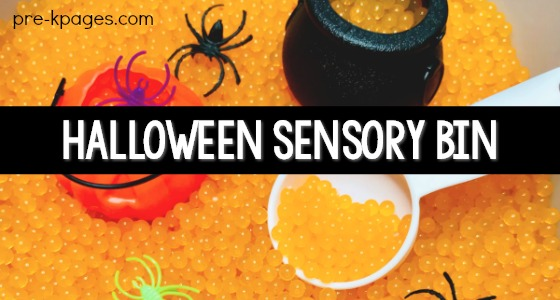 Halloween Sensory Bin for Preschool