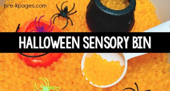 Halloween Sensory Bin for Preschool