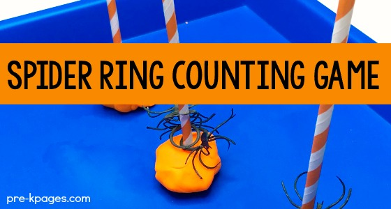 Spider Ring Counting Activity for Preschoolers