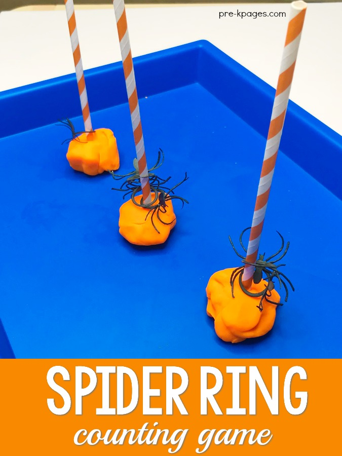 Spider Ring Counting Game for Halloween