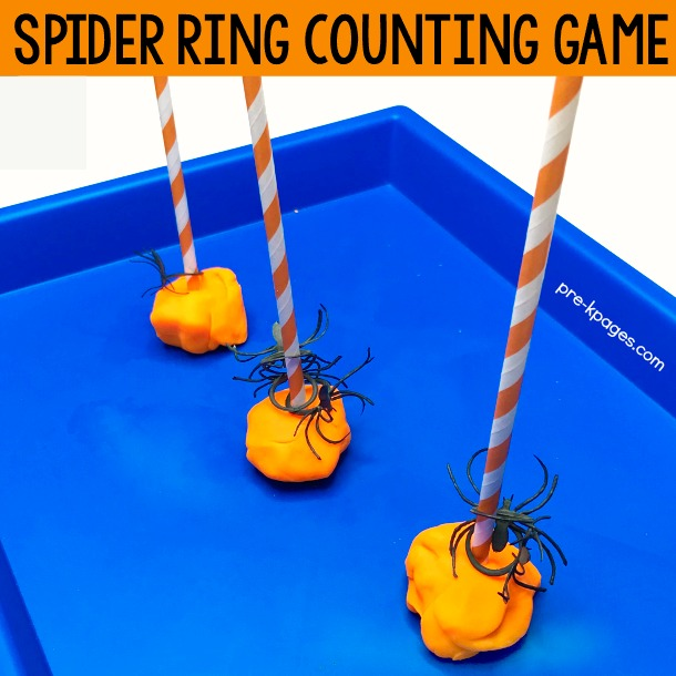Spider Ring Counting Game for Preschool