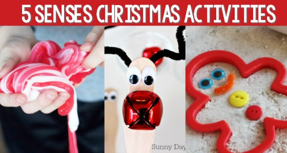 5 Senses Activities for Christmas in Preschool