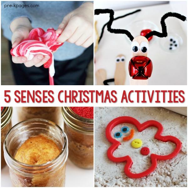 5 Senses Christmas Activities for Preschool