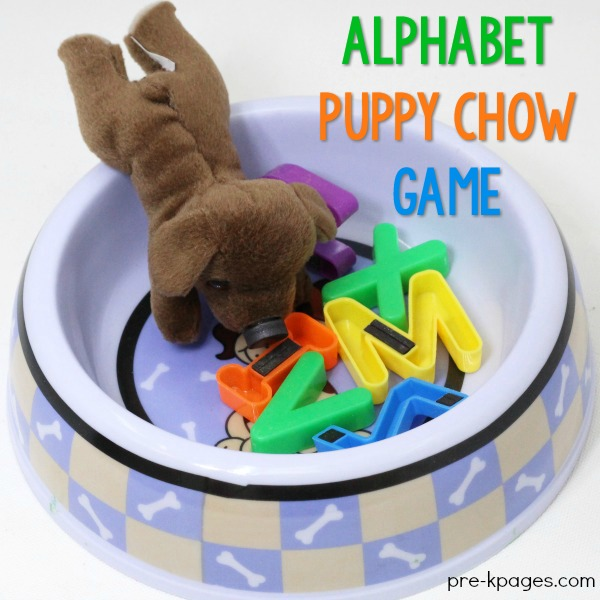 Alphabet Puppy Chow Game Preschool Literacy