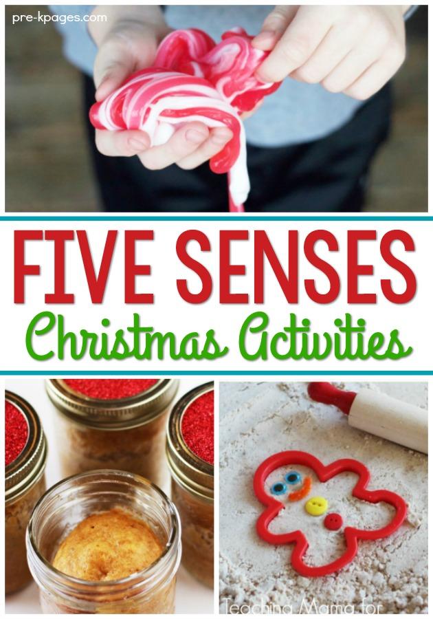 Five Senses Christmas Activities for Preschool