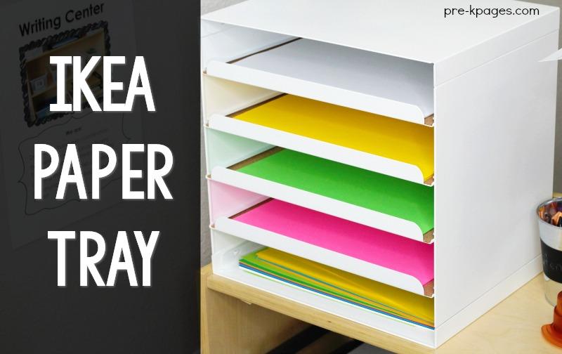 Ikea Kvissle Paper Tray Classroom Hack