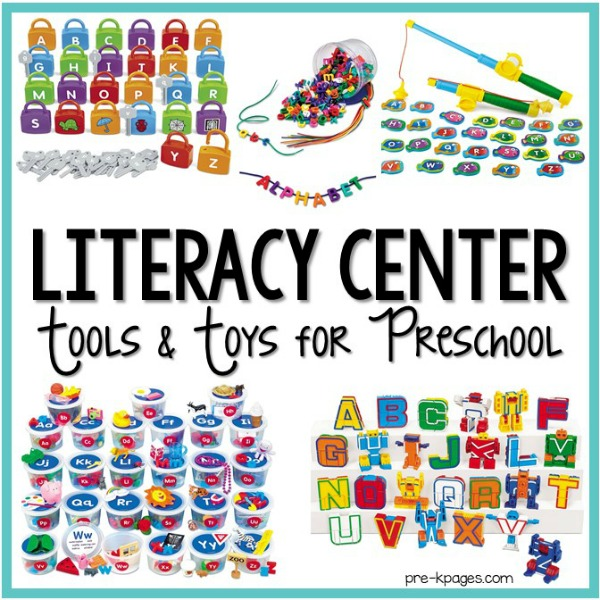 Literacy Center Tools and Toys for Preschool Classroom
