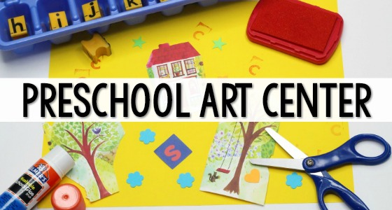 Preschool Art Center Set Up in the Classroom