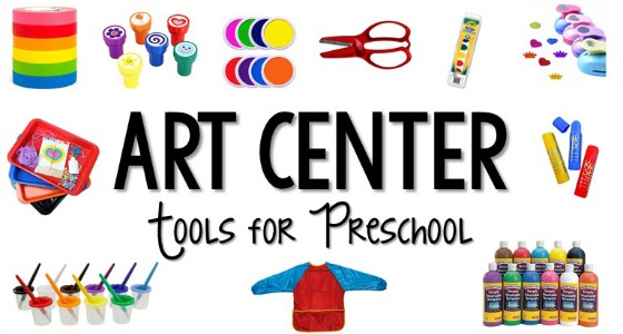 Art Center Supplies for Preschool