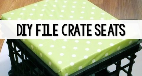 DIY File Crate Seat Tutorial