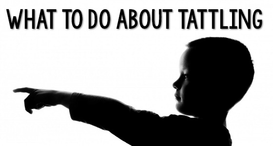 how to get kids to stop tattling
